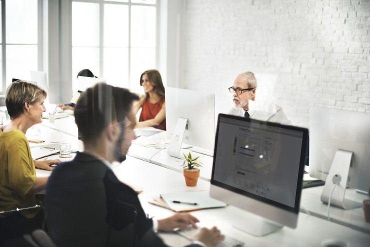 Business Team Contact us Helpdesk Internet Concept